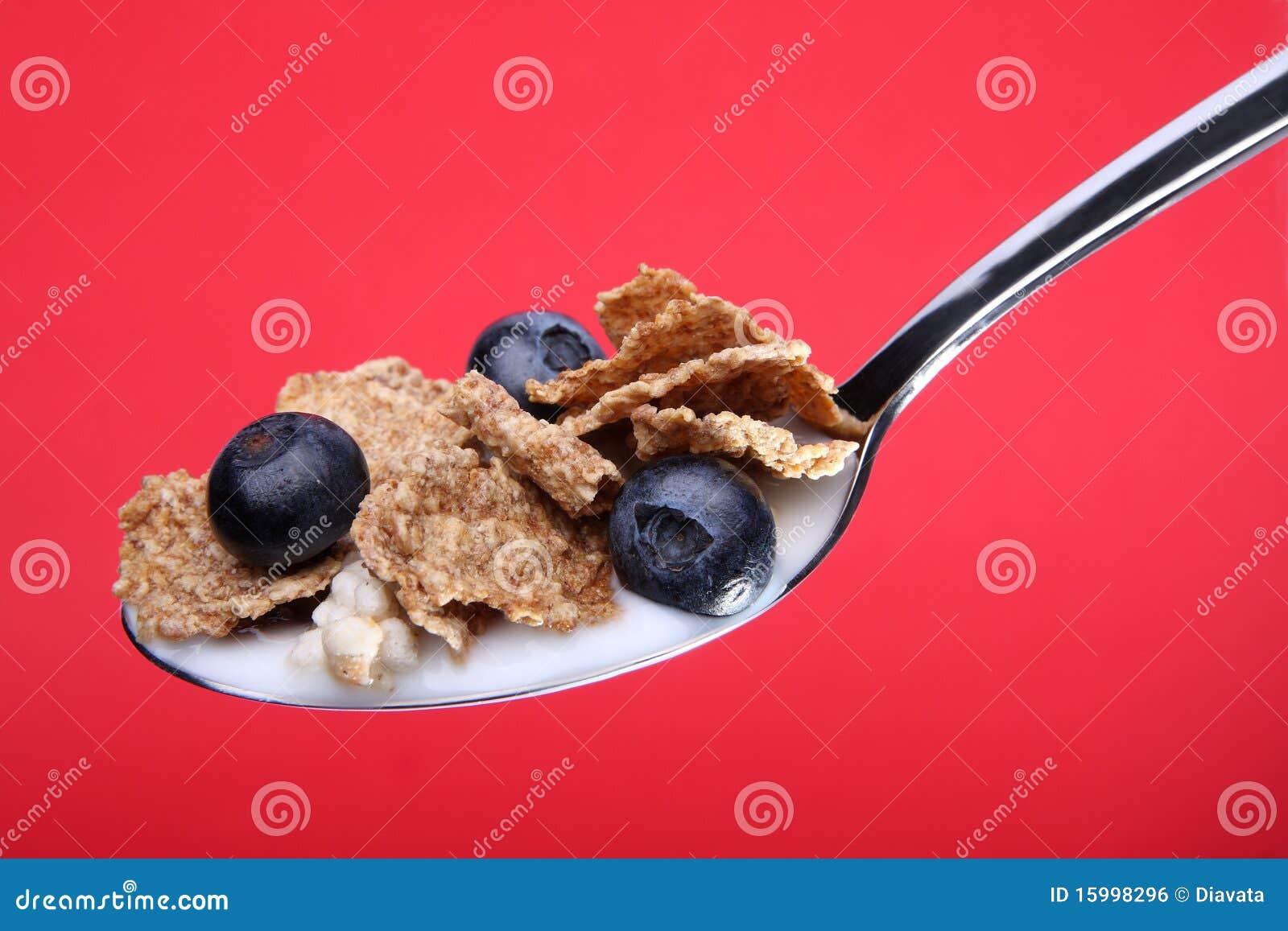Skedar sädes- flakes för blåbär helt vete