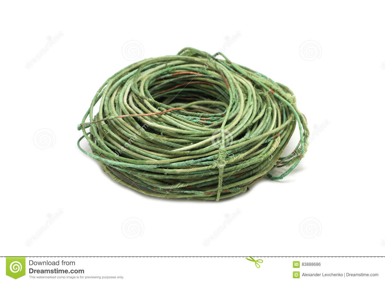 Skein of old copper wires stock photo. Image of oxidation - 83888686