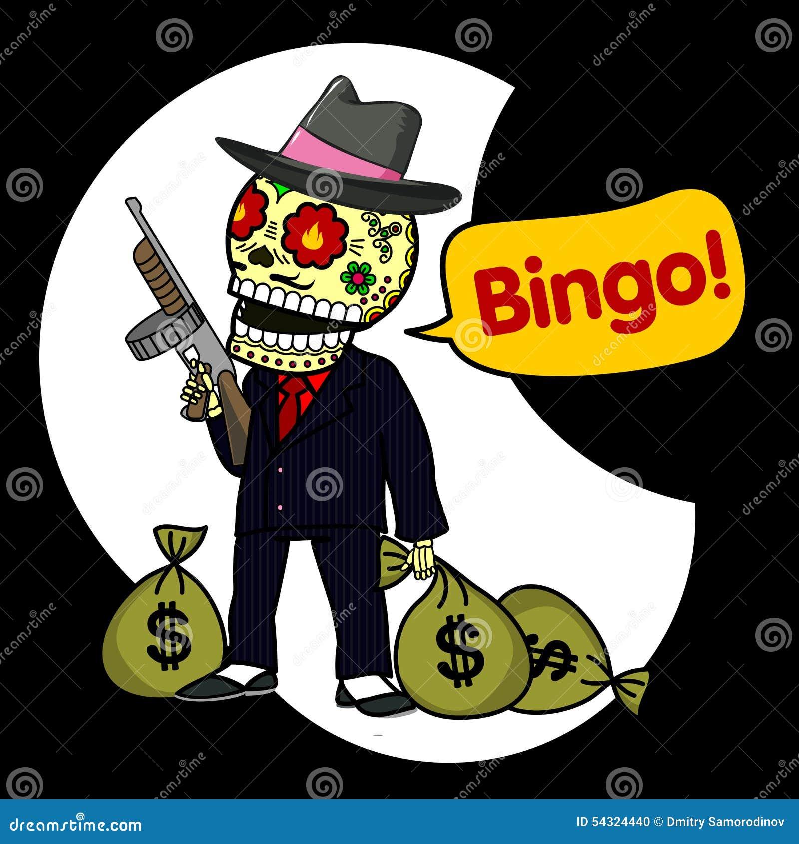Skeleton Bingo Stock Photo