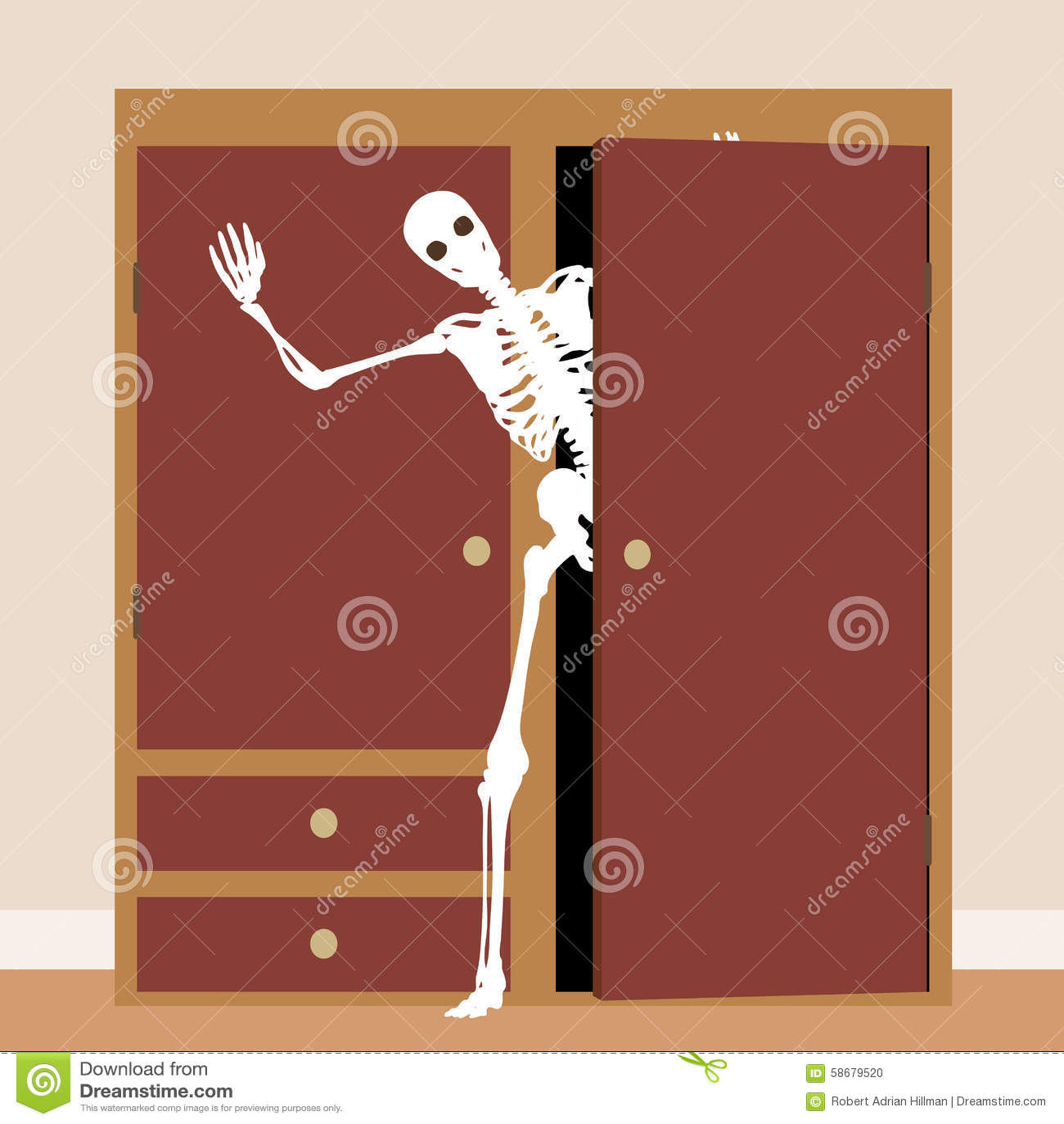 Skeleton Closet Stock Illustrations 26 Skeleton Closet