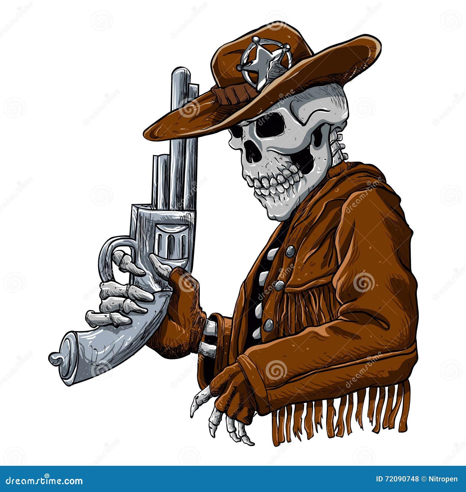 Skeleton Cowboy With R...