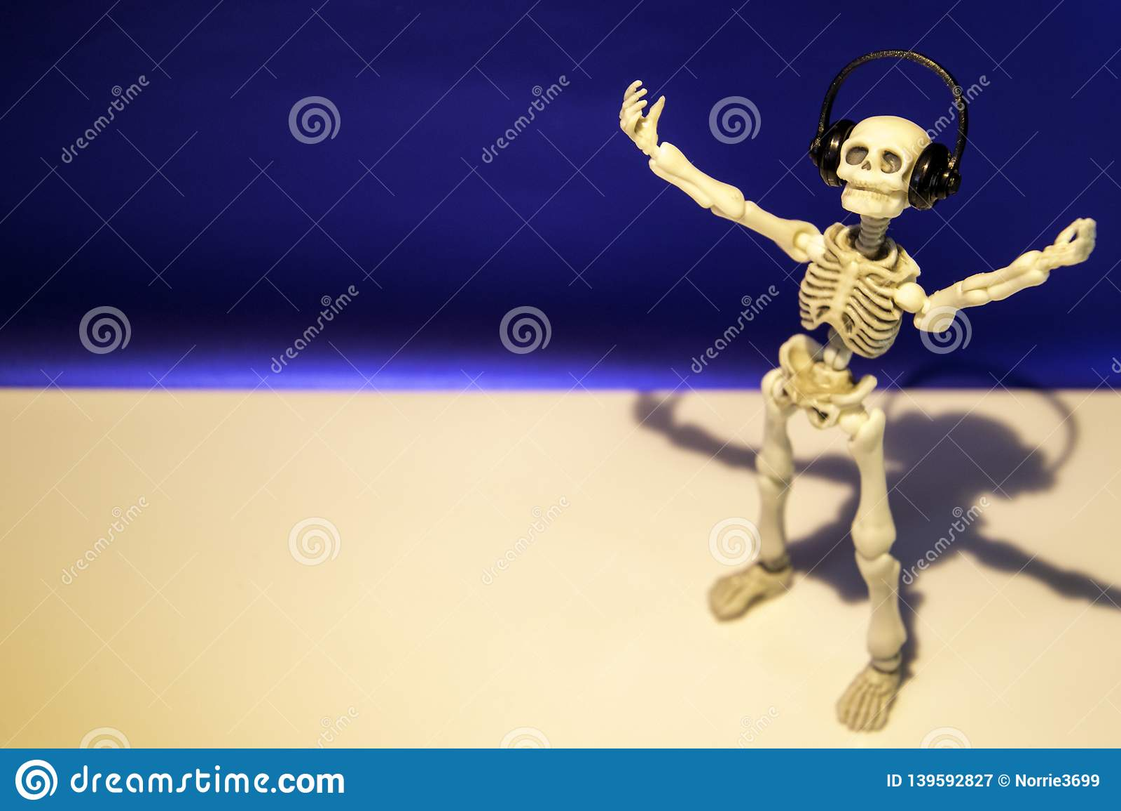 Musical Skeleton stock image  Image of funny, dance - 139592827
