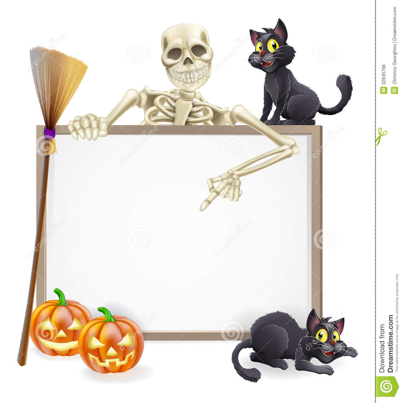 Skeleton Halloween Sign Royalty Free Stock Photos Image