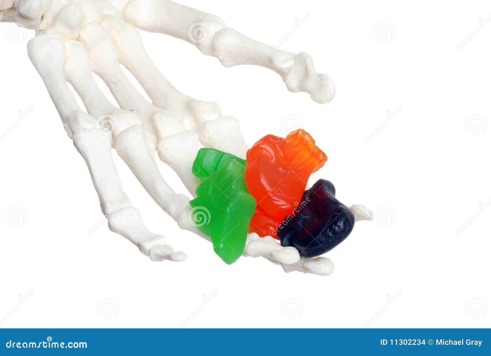 Skeleton Hand-anbietensüßigkeit