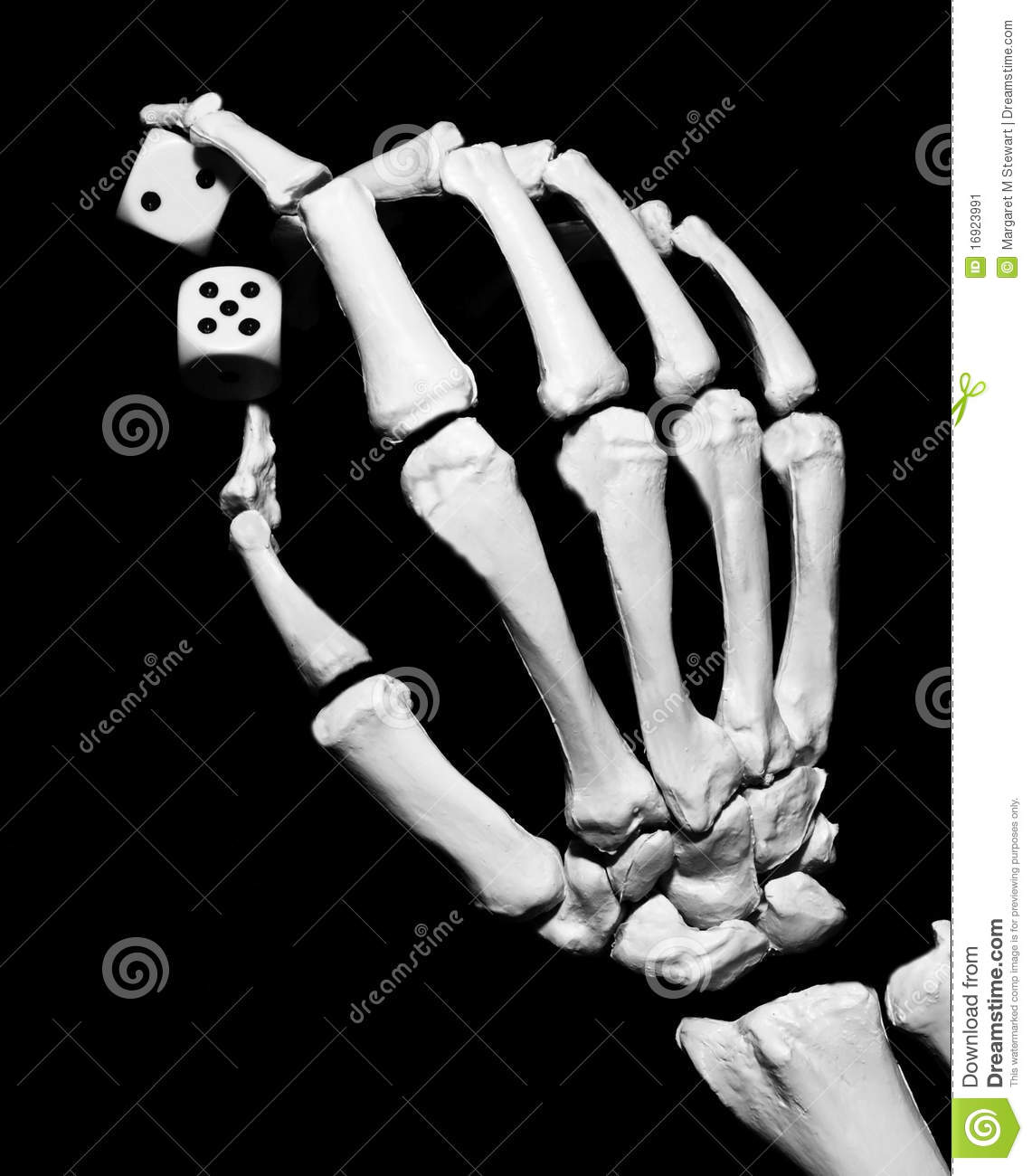 More similar stock images of ` Skeleton hand with dice `