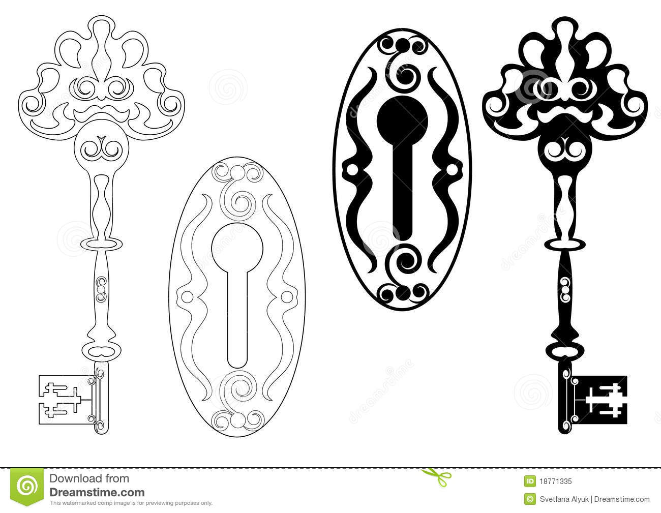 skeleton key clipart free vector - photo #39