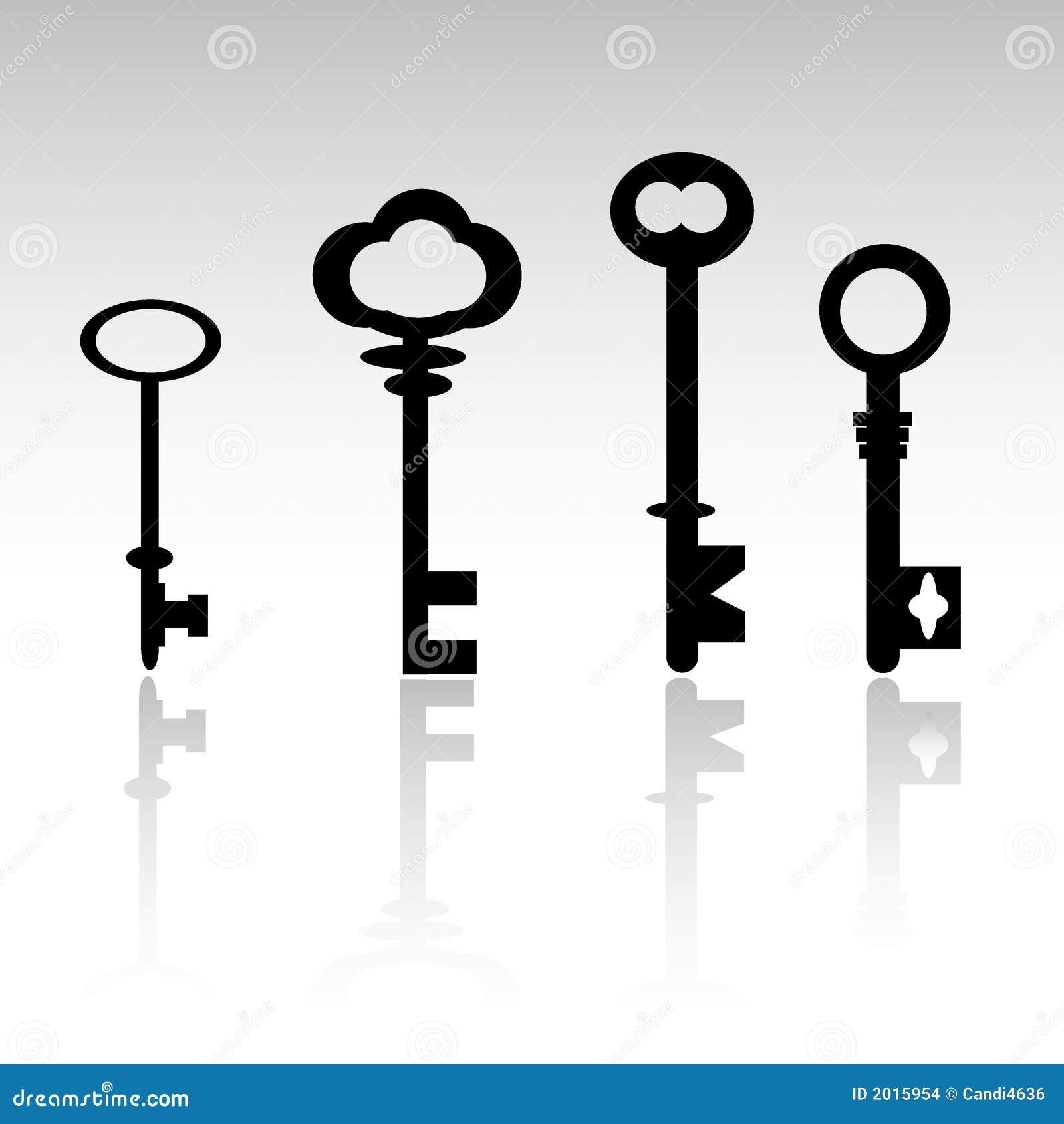 Vector Key Illustration: Skeleton Keys Stock Vector. Illustration Of Unlock, Door