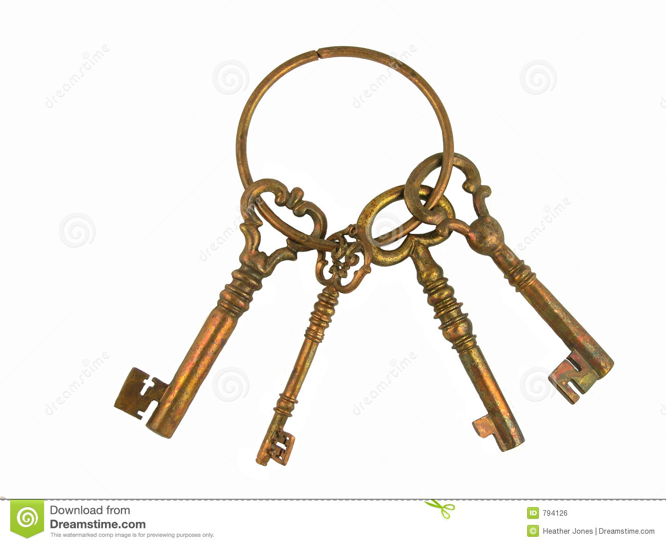 Skeleton Keys On A Ring Stock Photo Image Of Home Lock