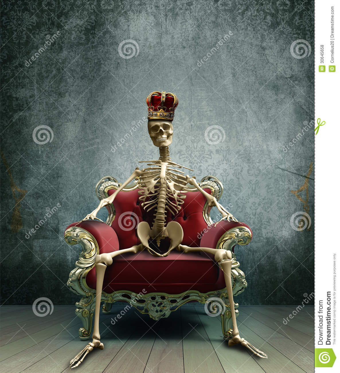 Skeleton King Royalty Free Stock Photos - Image: 30645658