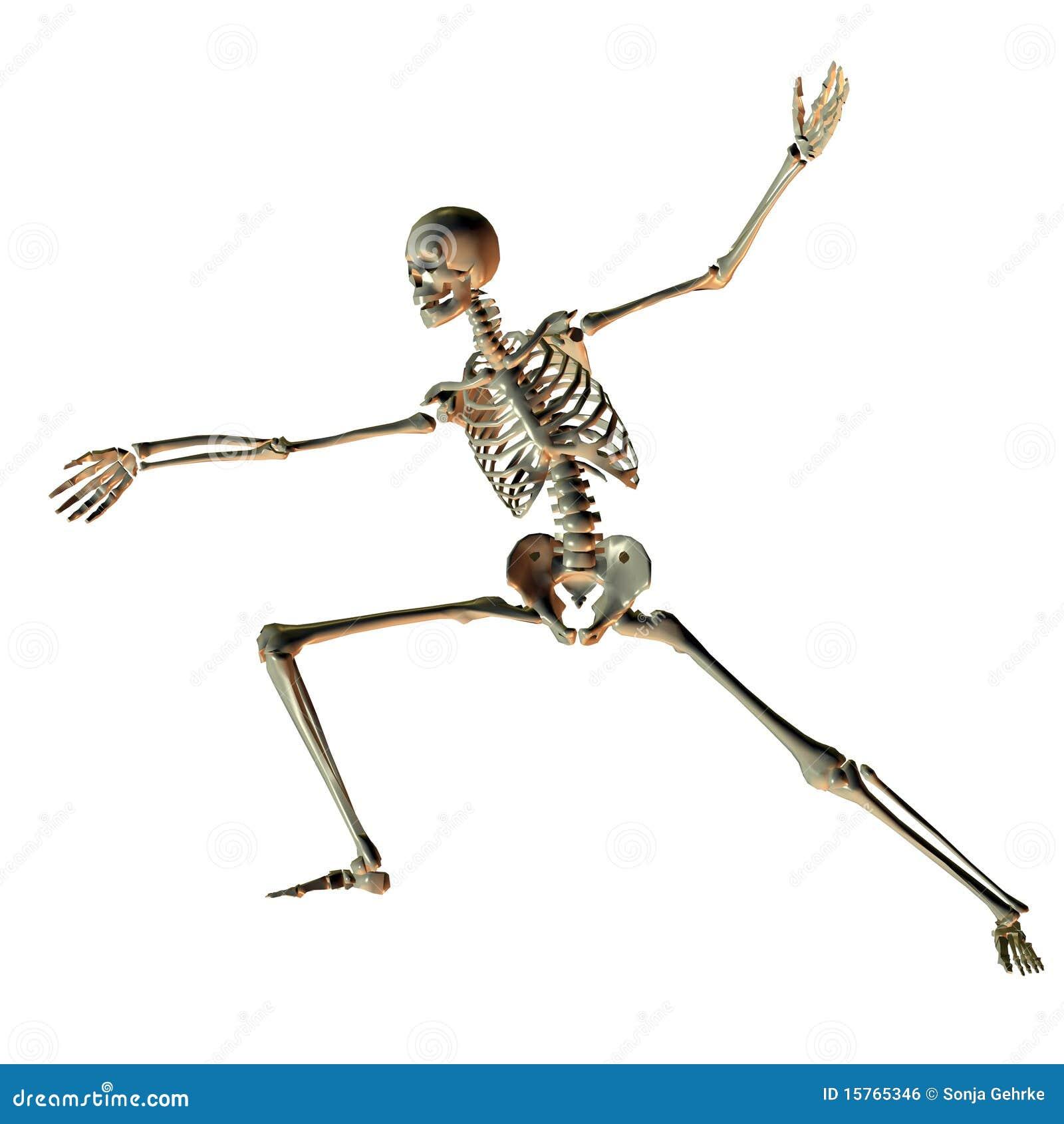 Skeleton In Sports Pose As Illustration Royalty Free Stock