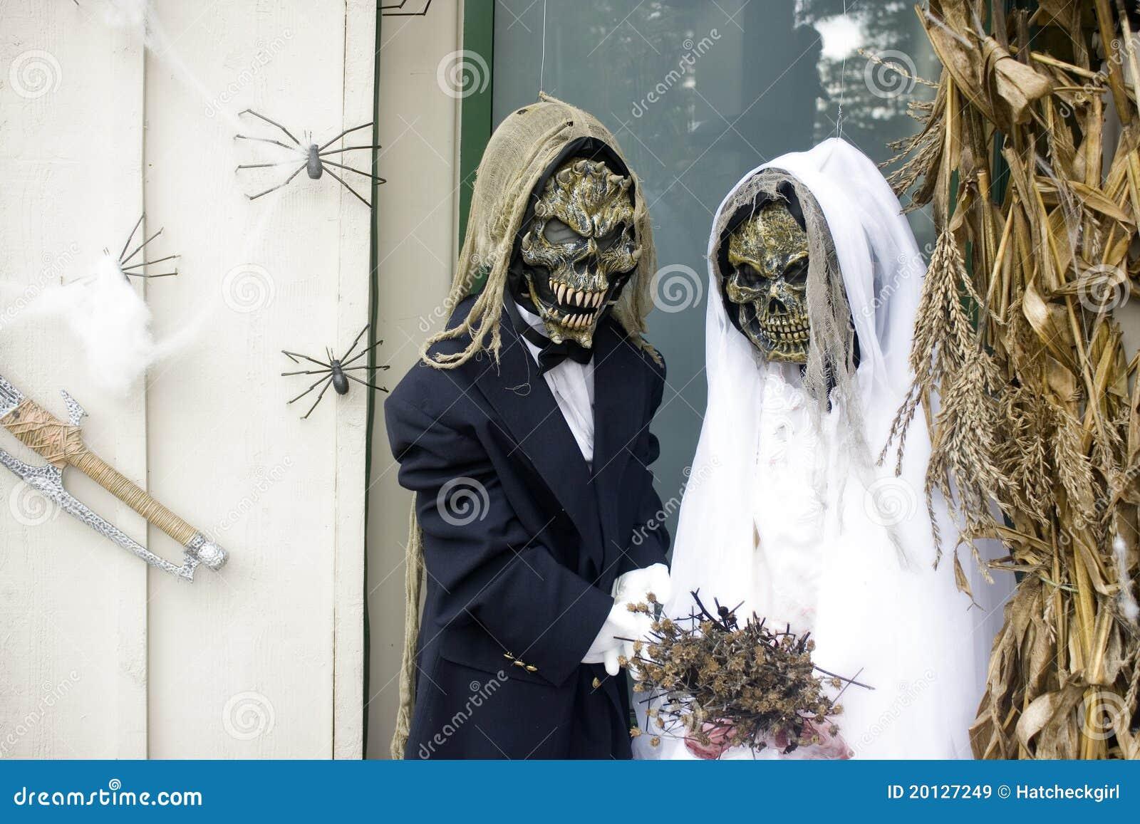 Skeleton Wedding Halloween Royalty Free Stock Images
