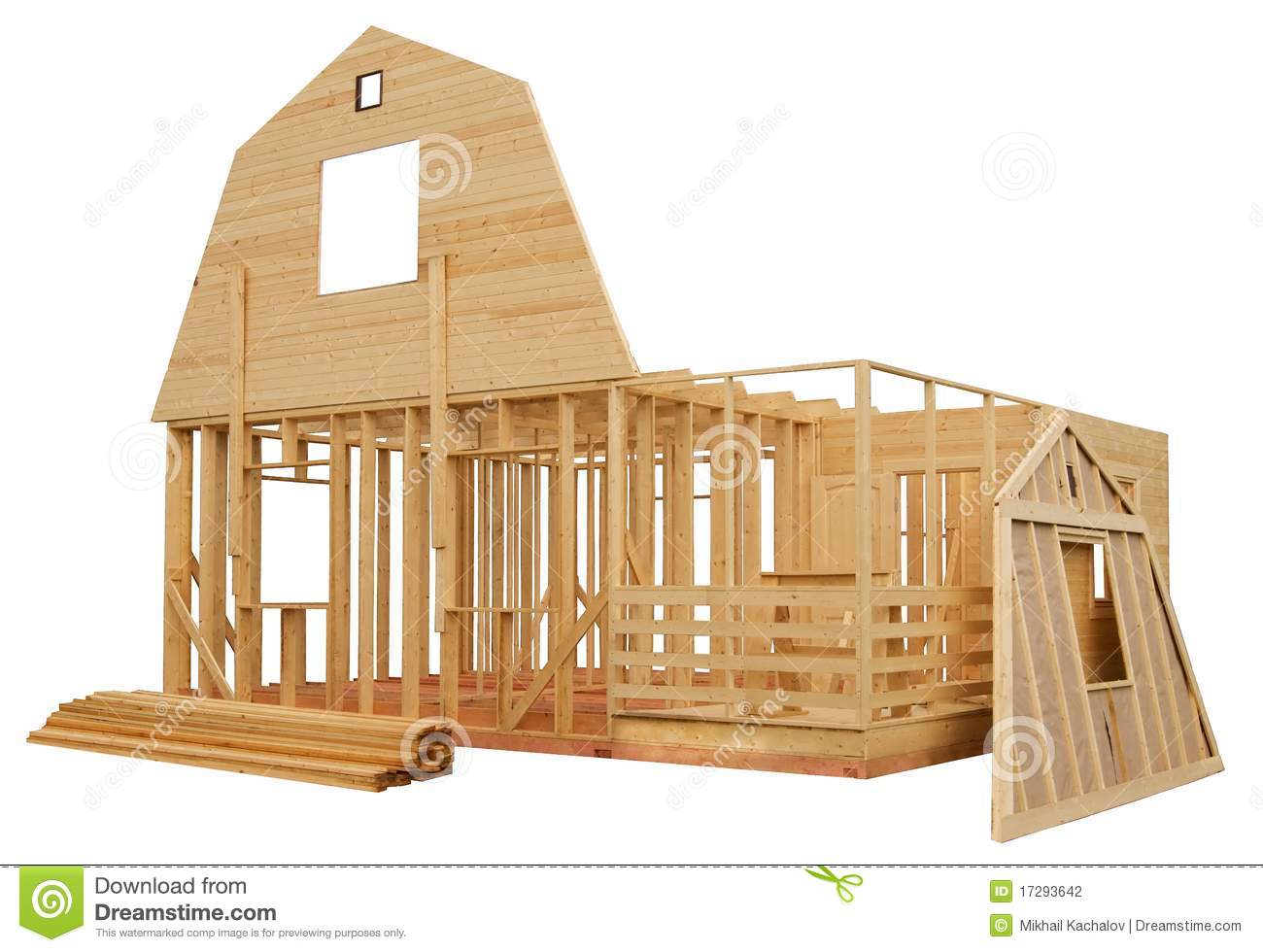 Skeleton Of A Wooden House Stock Photo Image Of Exterior