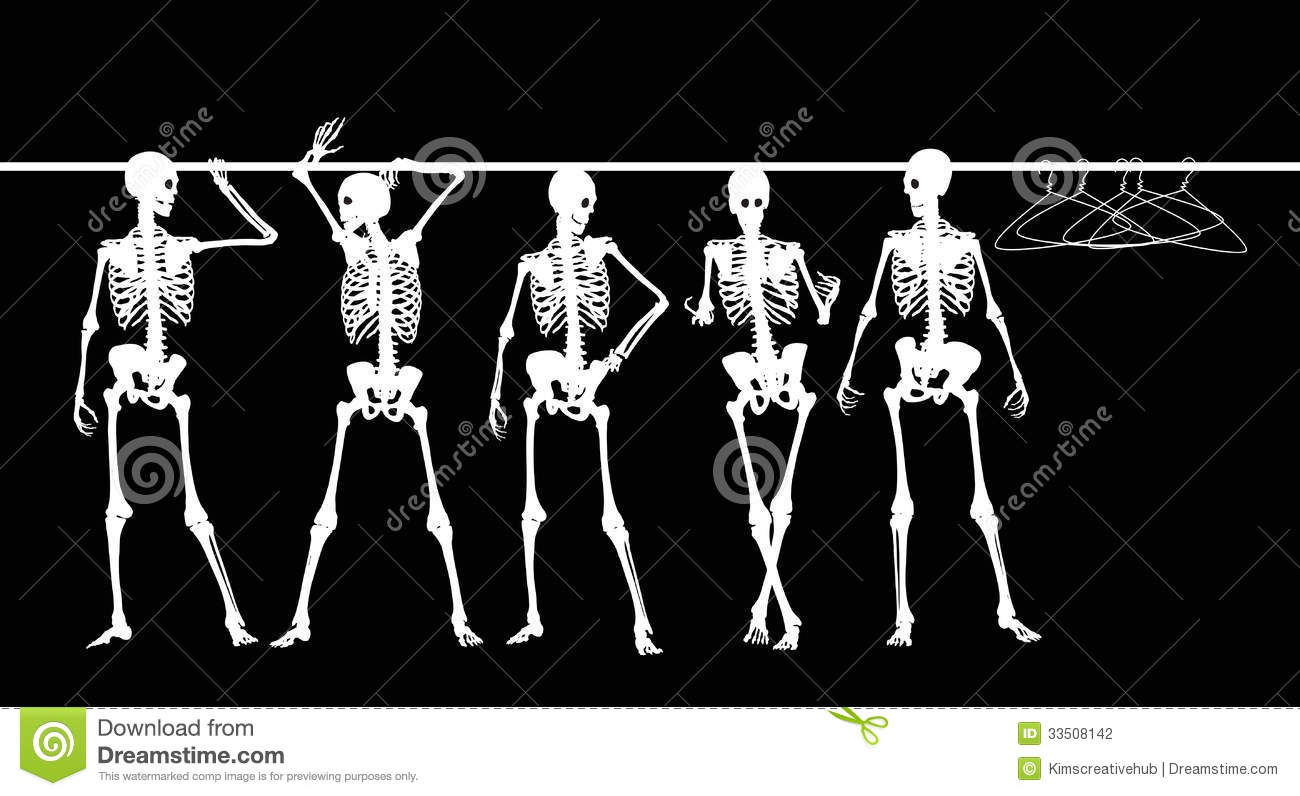 Skeletons In The Closet Stock Vector Illustration Of