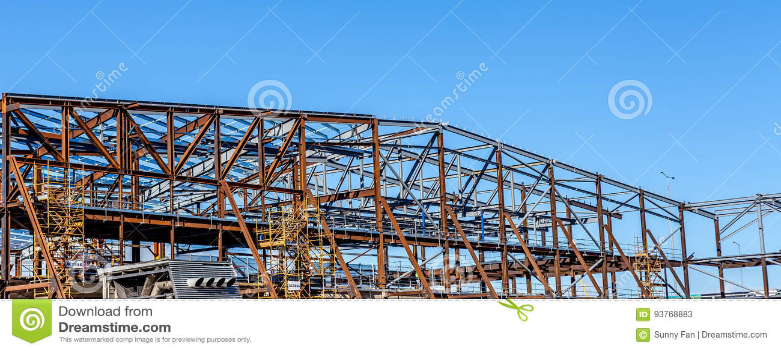 Skelett-Rahmen stockbild. Bild von konstruieren, assemble - 93768883
