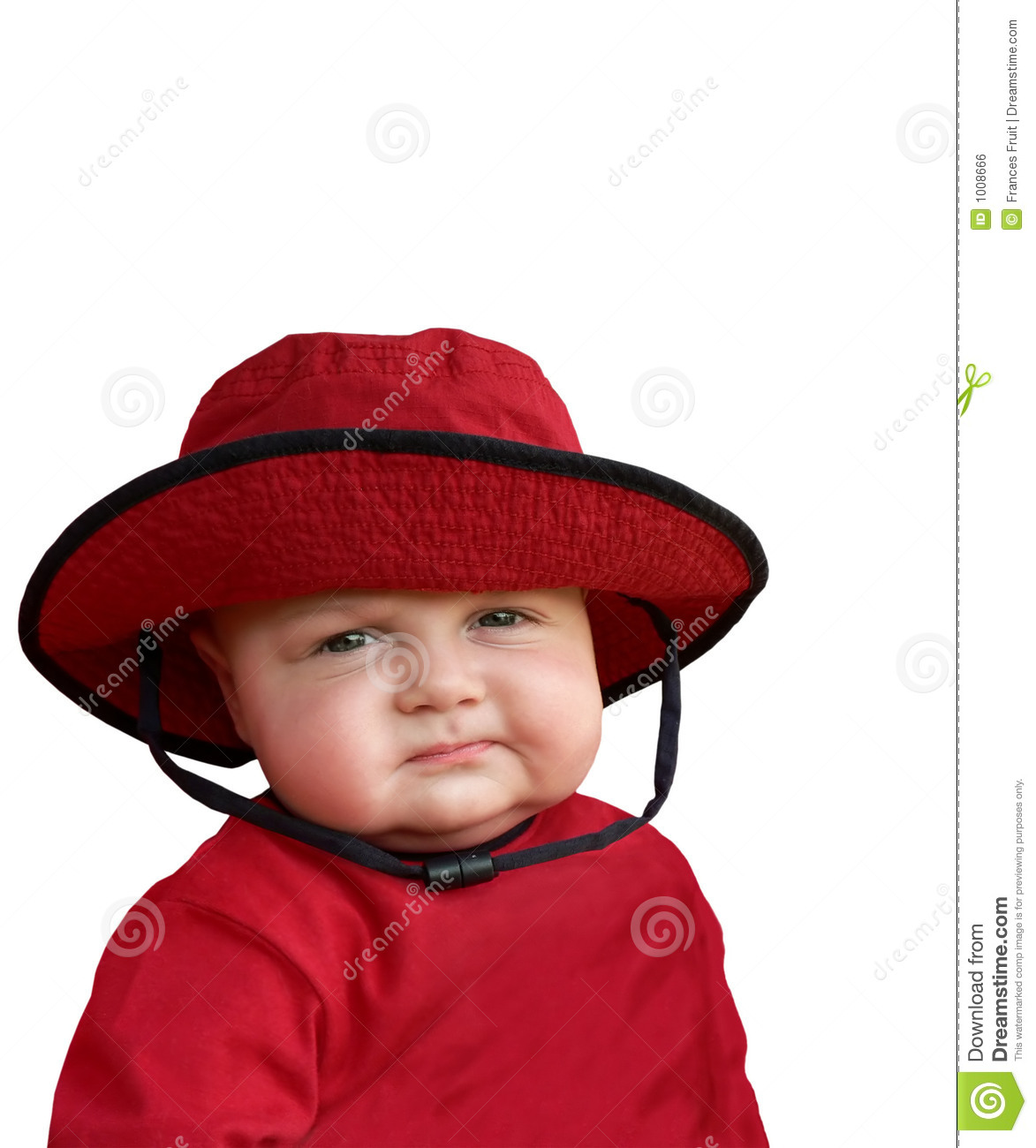Skeptical baby in red hat. stock photo. Image of child - 1008666 ab4da860d2b