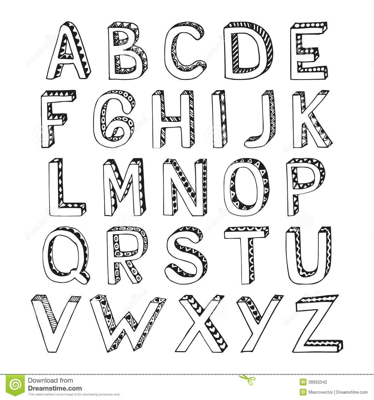 creative ways of writing letters from the alphabet