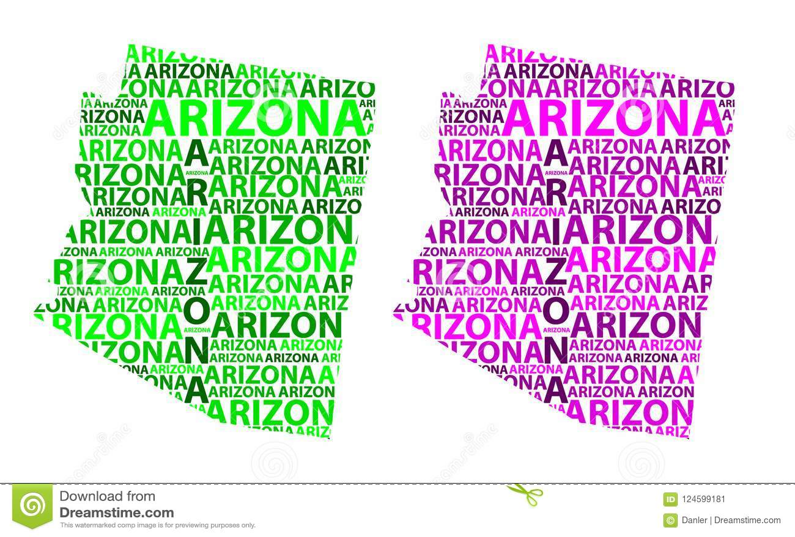 Map Of Arizona - Vector Illustration Stock Vector - Illustration of ...
