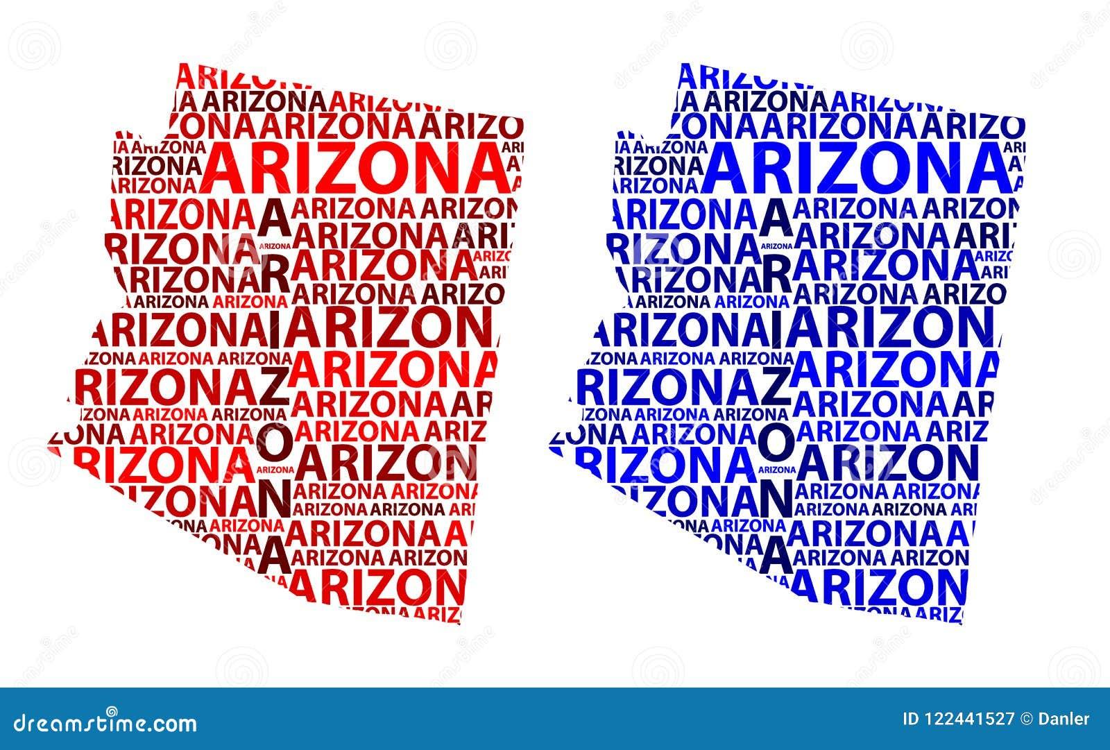 Map Of Arizona - Vector Illustration Stock Vector ...