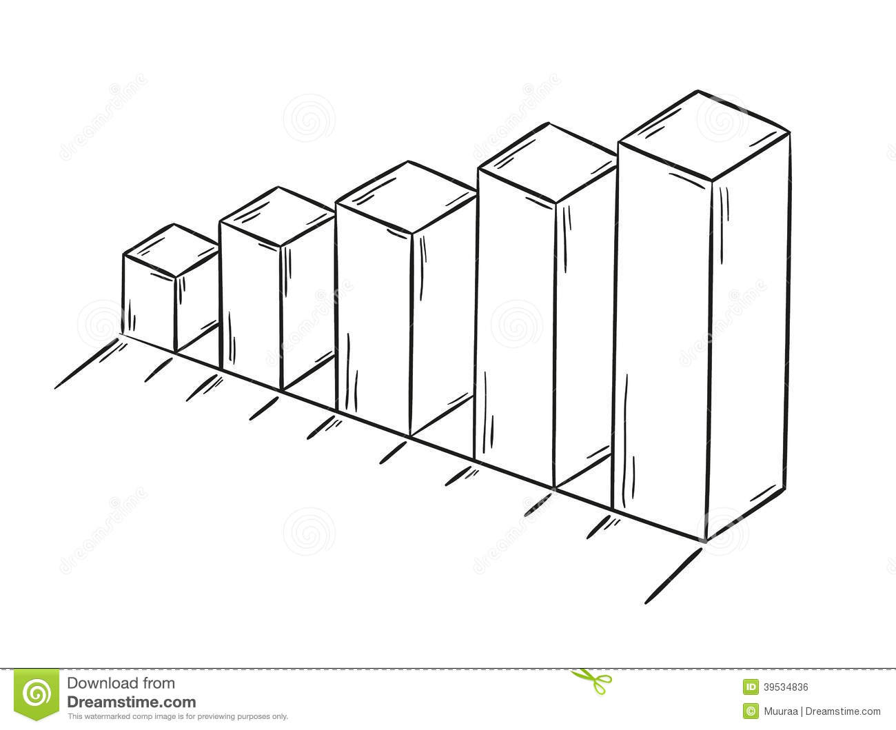 Notebook And Pen Sketch Stock Vector Art More Images Of: Sketch Of The Bar Chart Stock Vector