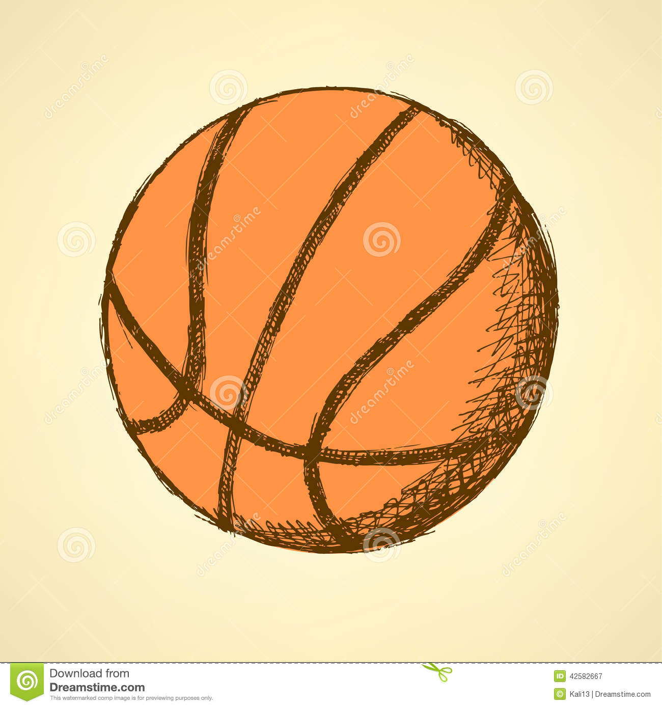 how to draw a basketball net and ball
