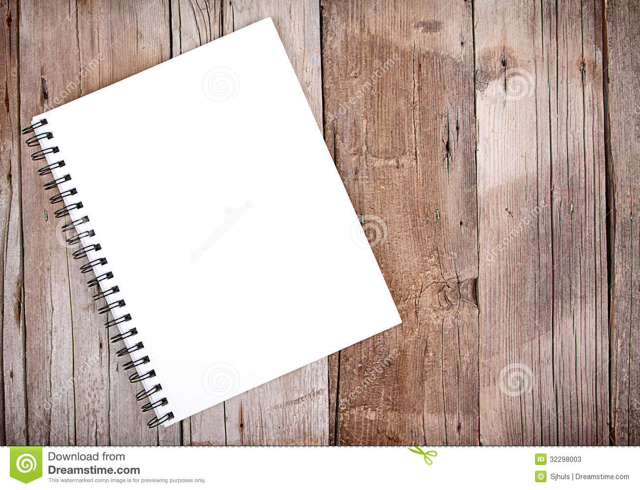 Sketch Book On Wooden Plank Stock Photos