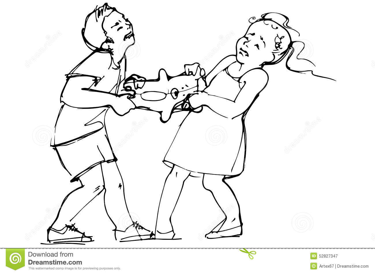 boy and girl fighting coloring pages
