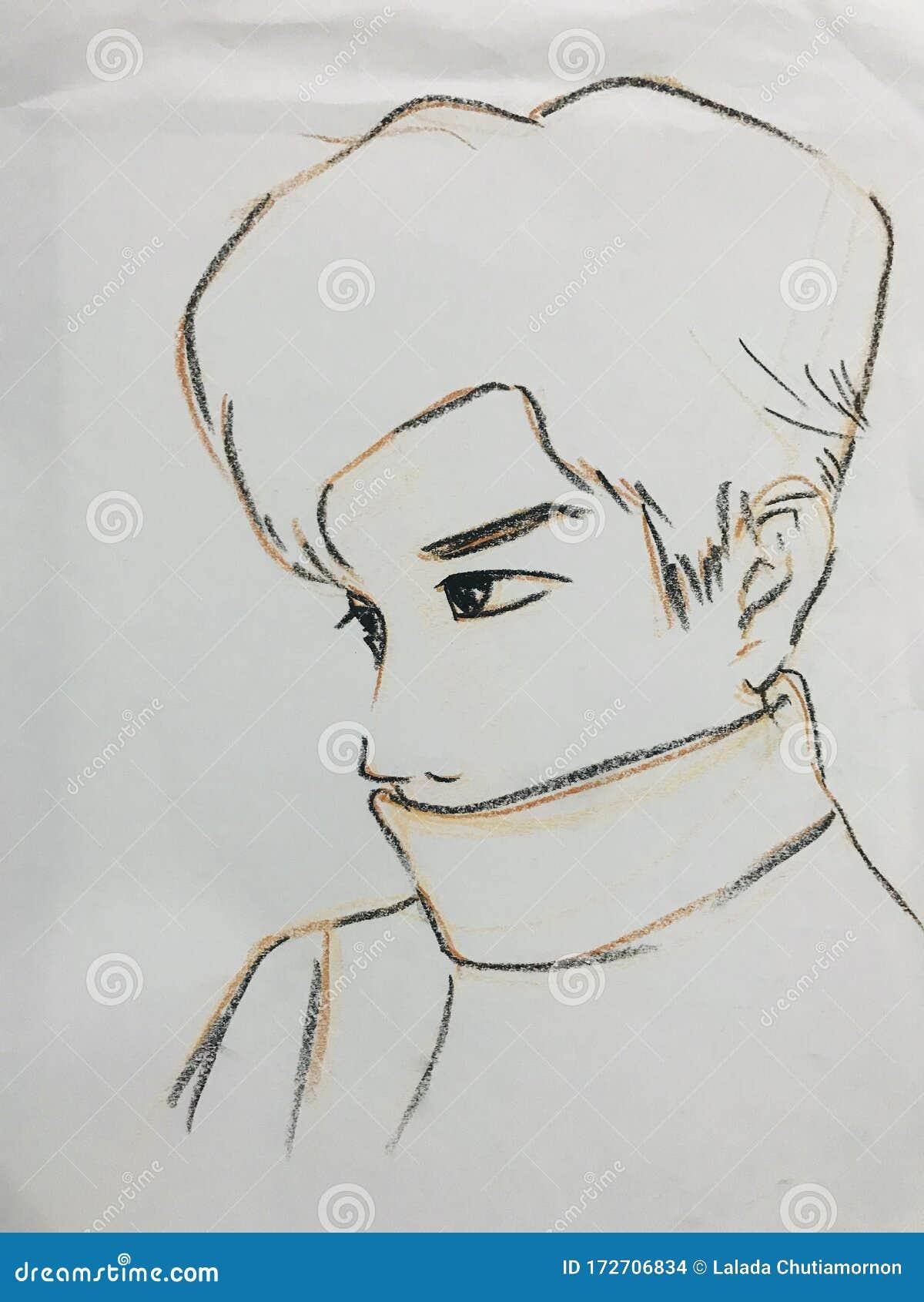 Sketch Of A Cartoon Stock Photo Image Of Darwing Chutiamornon 172706834