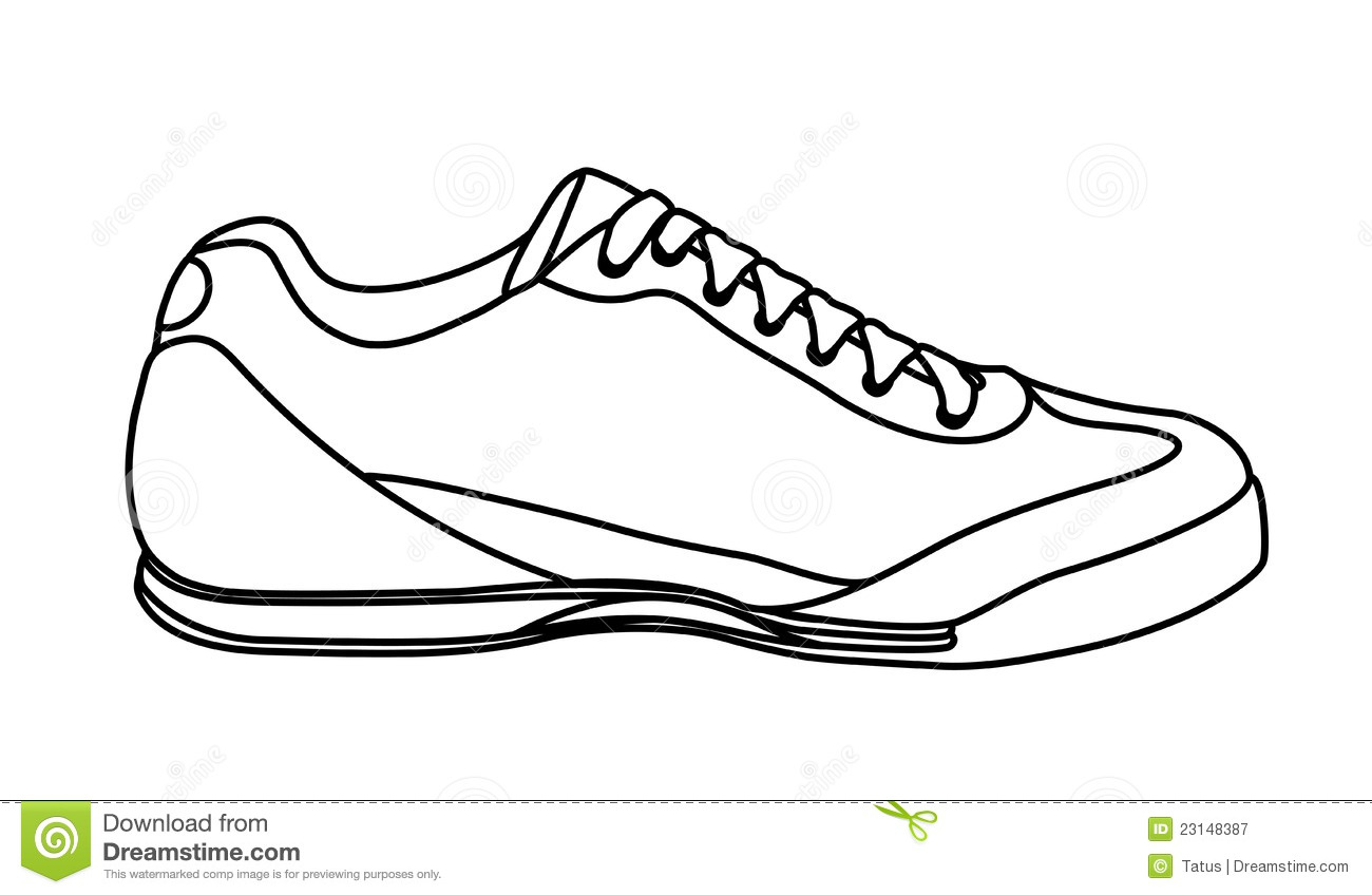 Simple Shoes Clipart Black And Whiote