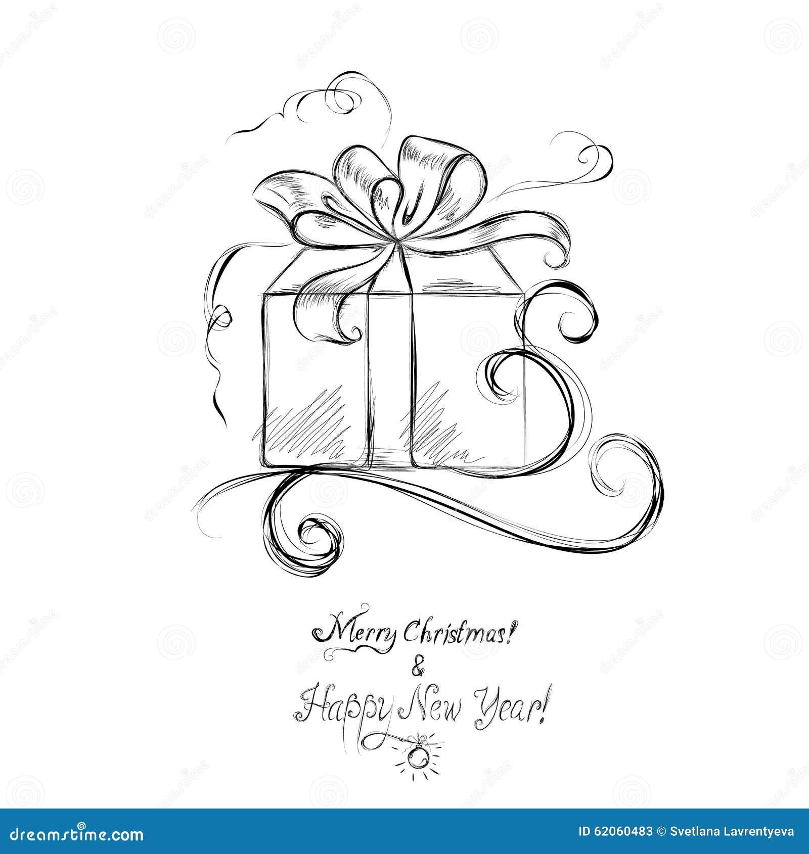 christmas presents sketch