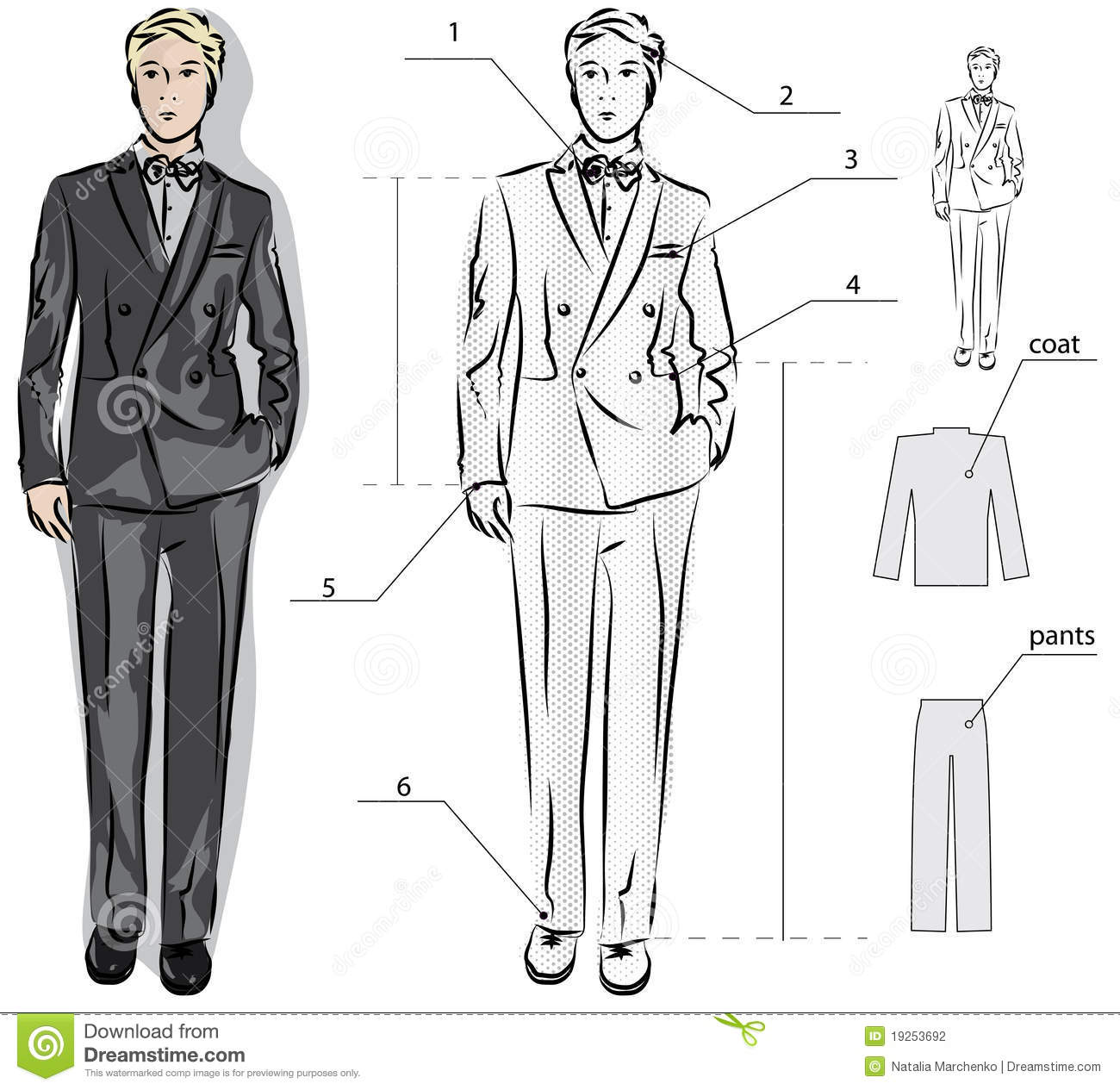 Mens Shoes Drawing Ref