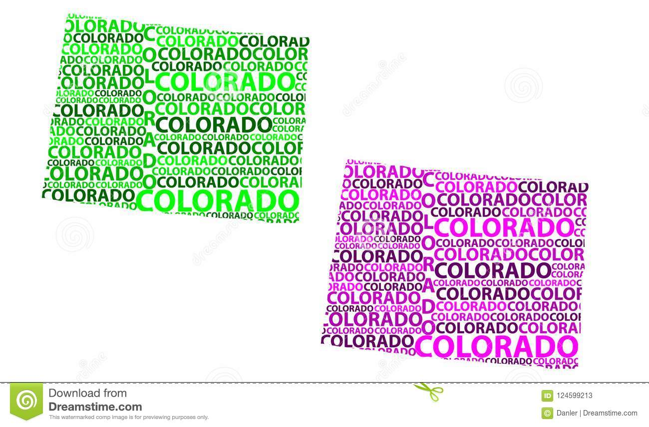Map Of Colorado Vector Illustration Stock Vector Illustration Of