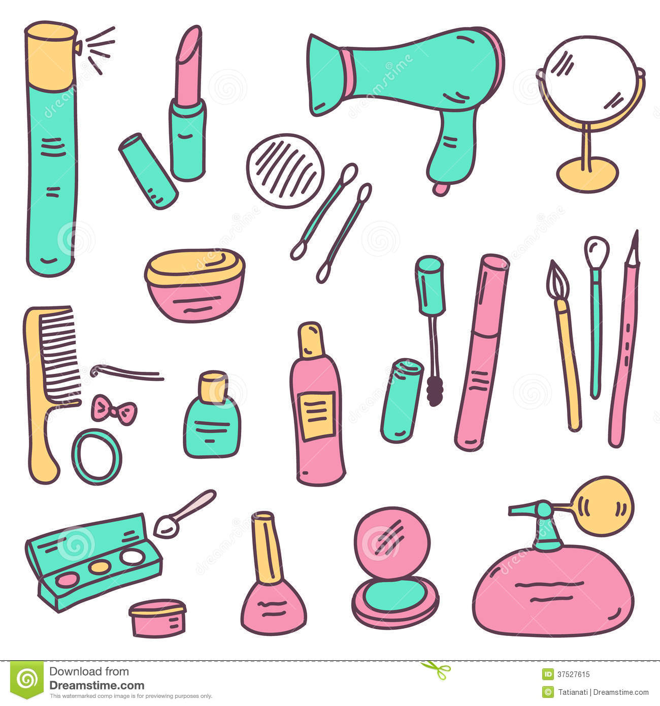 sketch cosmetics royalty free stock photo   image 37527615