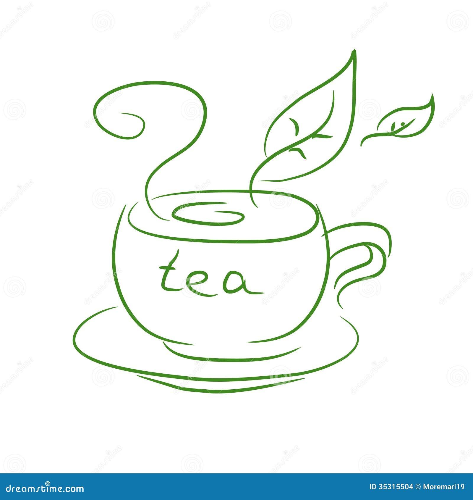 A cup of tea vector