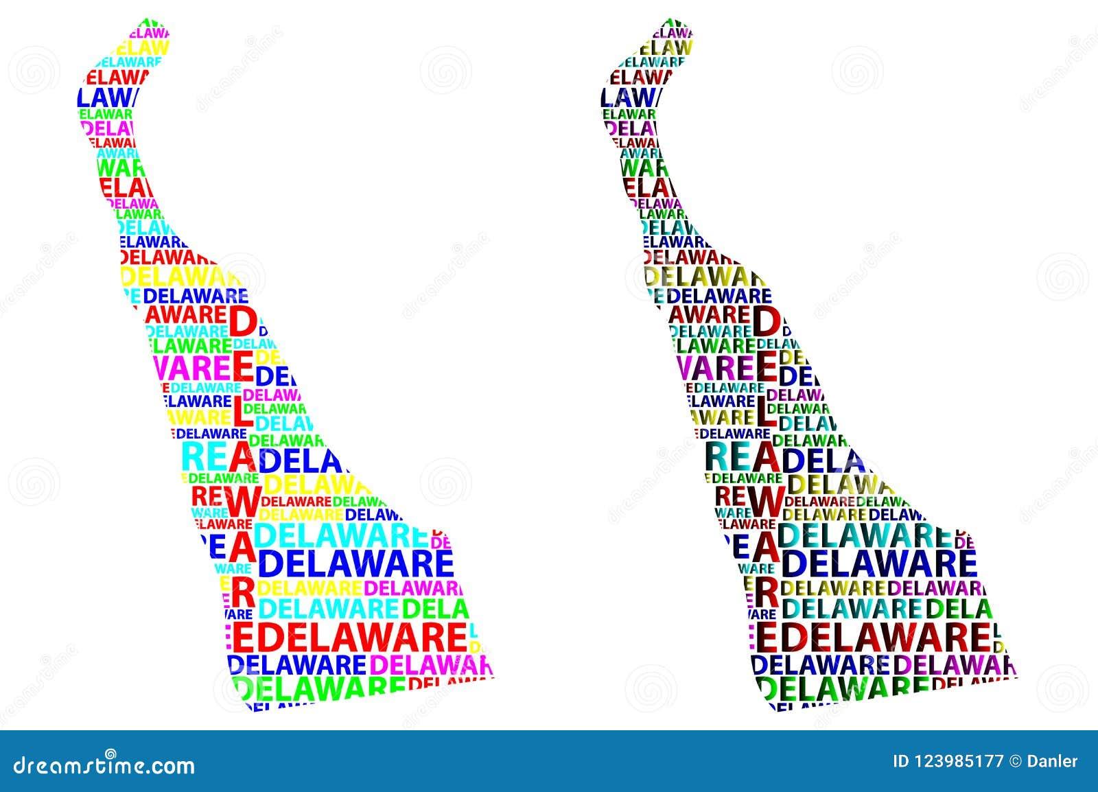 Map Of Delaware - Vector Illustration Stock Vector - Illustration of ...