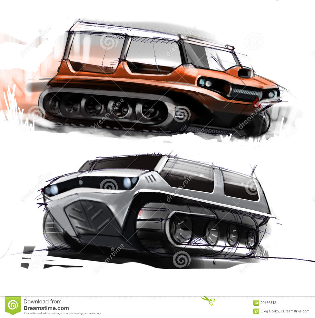Sketch Design Concept Of Cross Country Off Road Vehicle Illustration Stock Illustration Illustration Of Traces Active 90166312