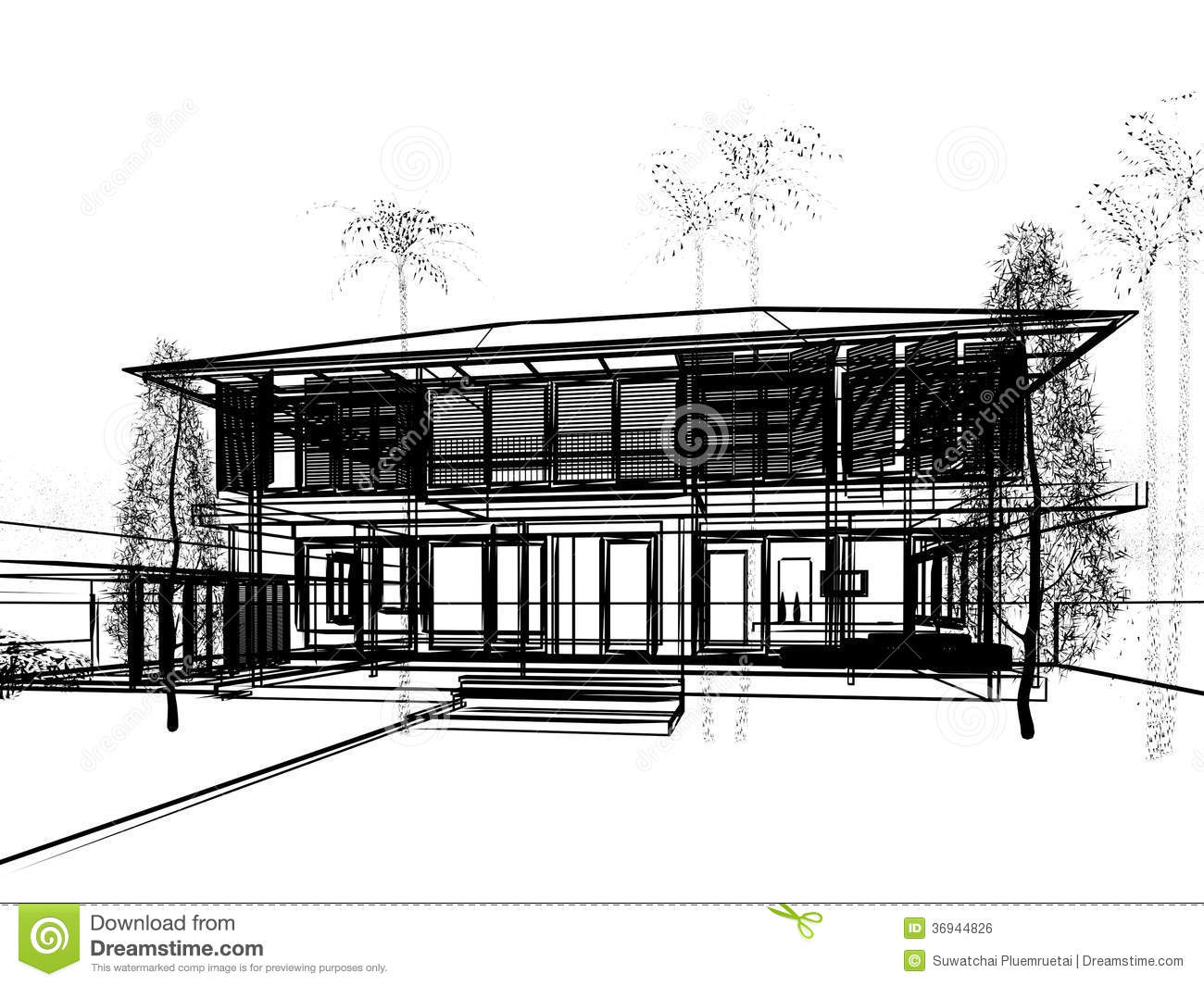 sketch design of house stock illustration  image of house