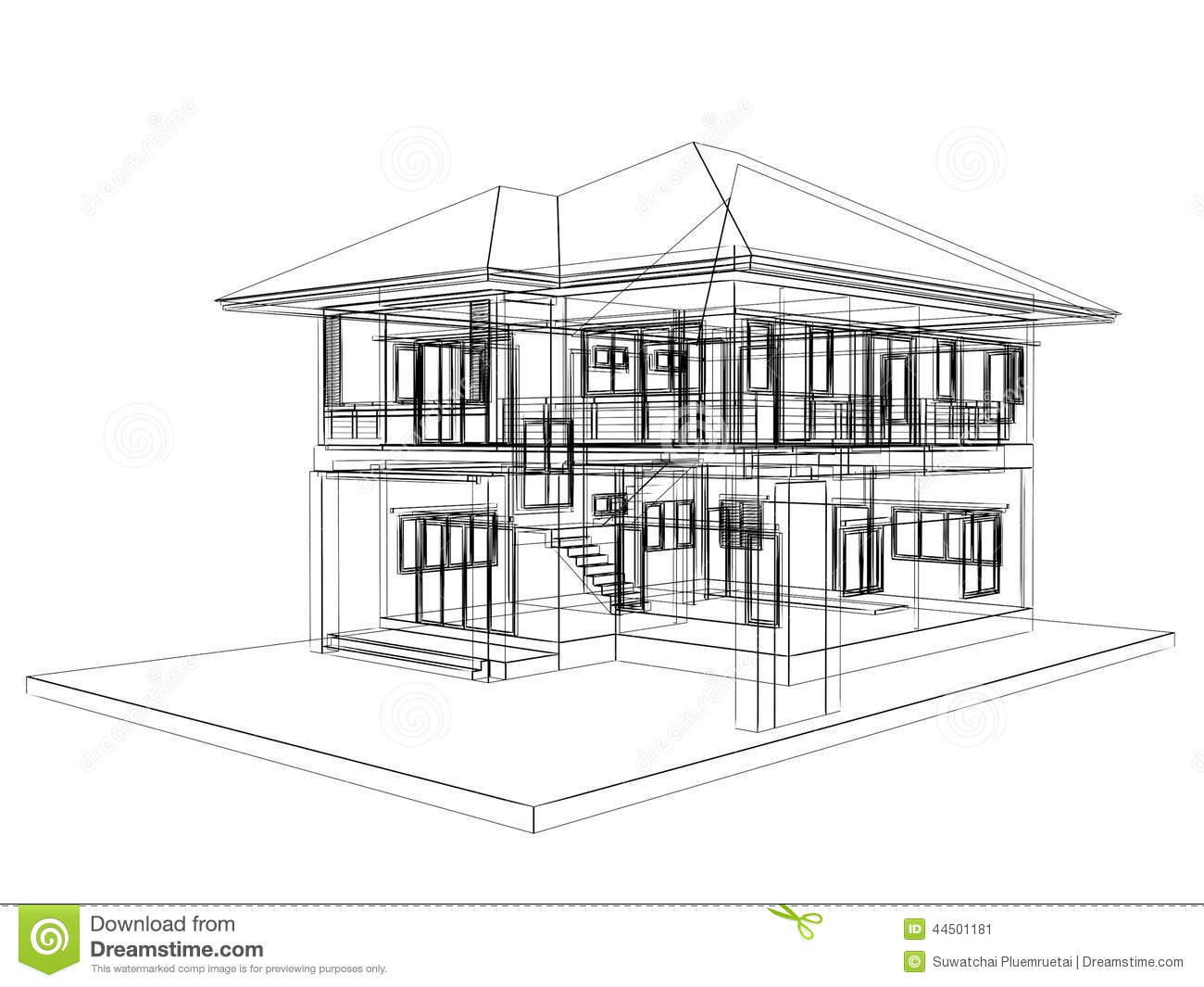 sketch design of house stock illustration