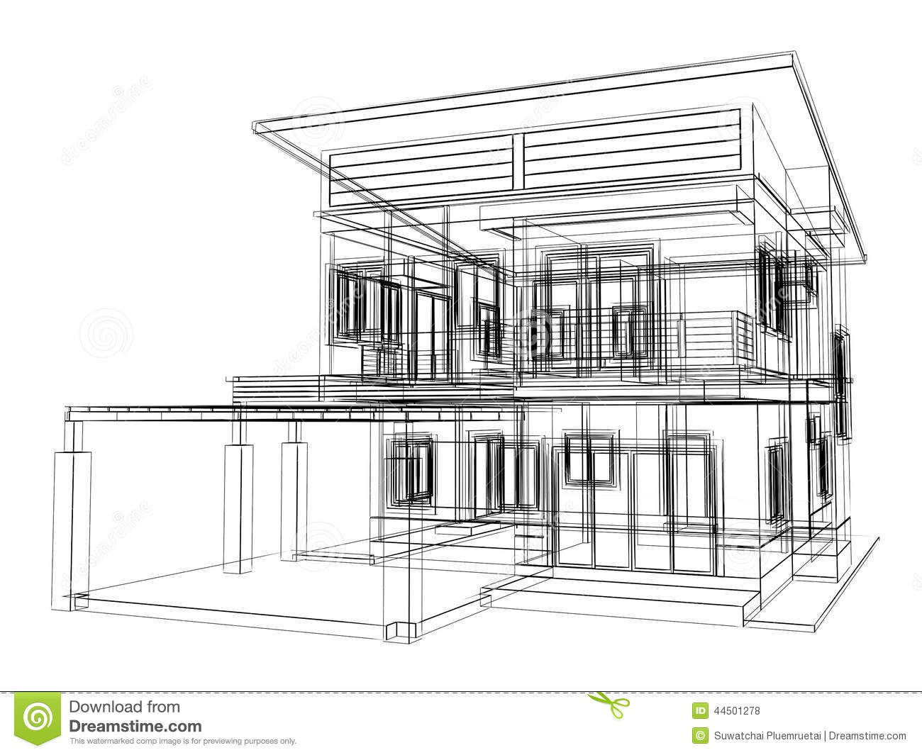 Sketch Design Of House Royalty Free Stock Photography   Image .