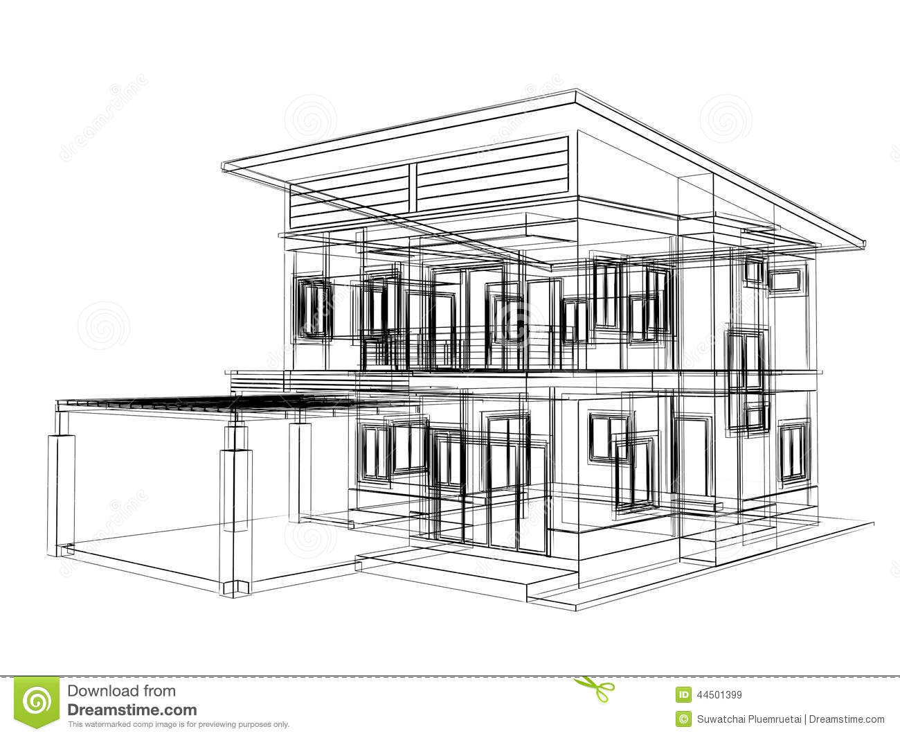 sketch design of house stock illustration  illustration of