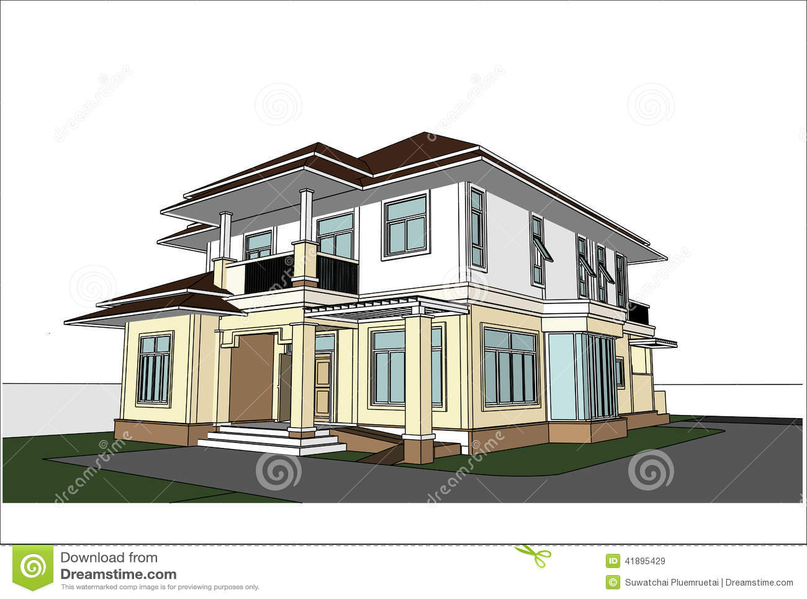 Sketch Design Of House Vector Stock Vector Image 41895429