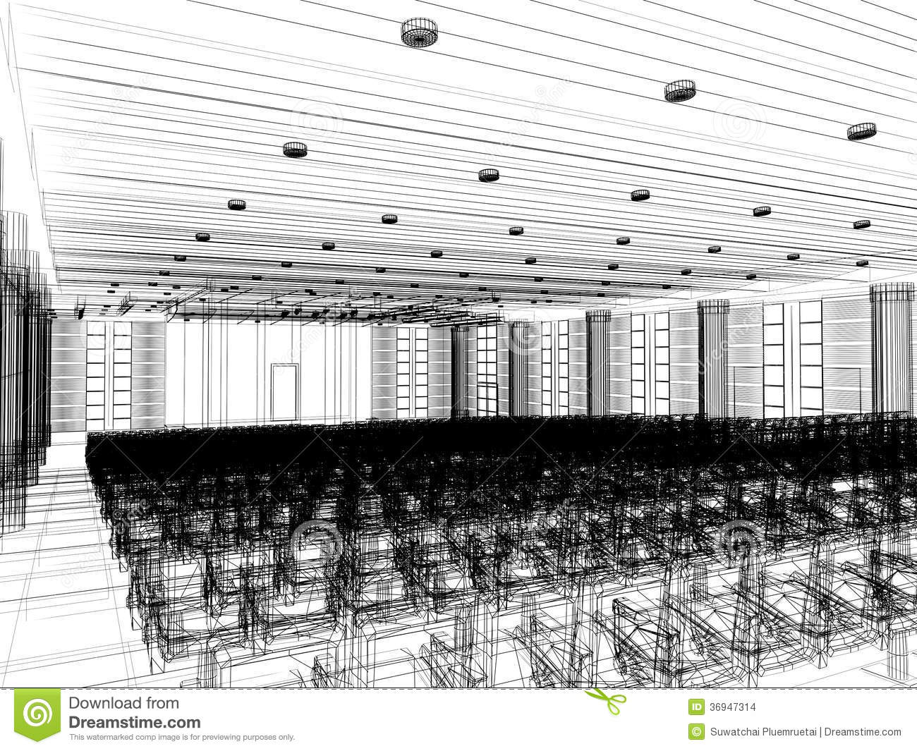 Sketch design of interior auditorium stock images image for Architecture and design home theater