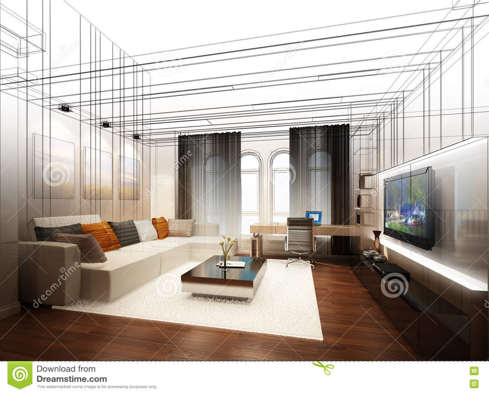 Modern Living Room Sketches modren modern living room sketches sketch of an interiorto decor