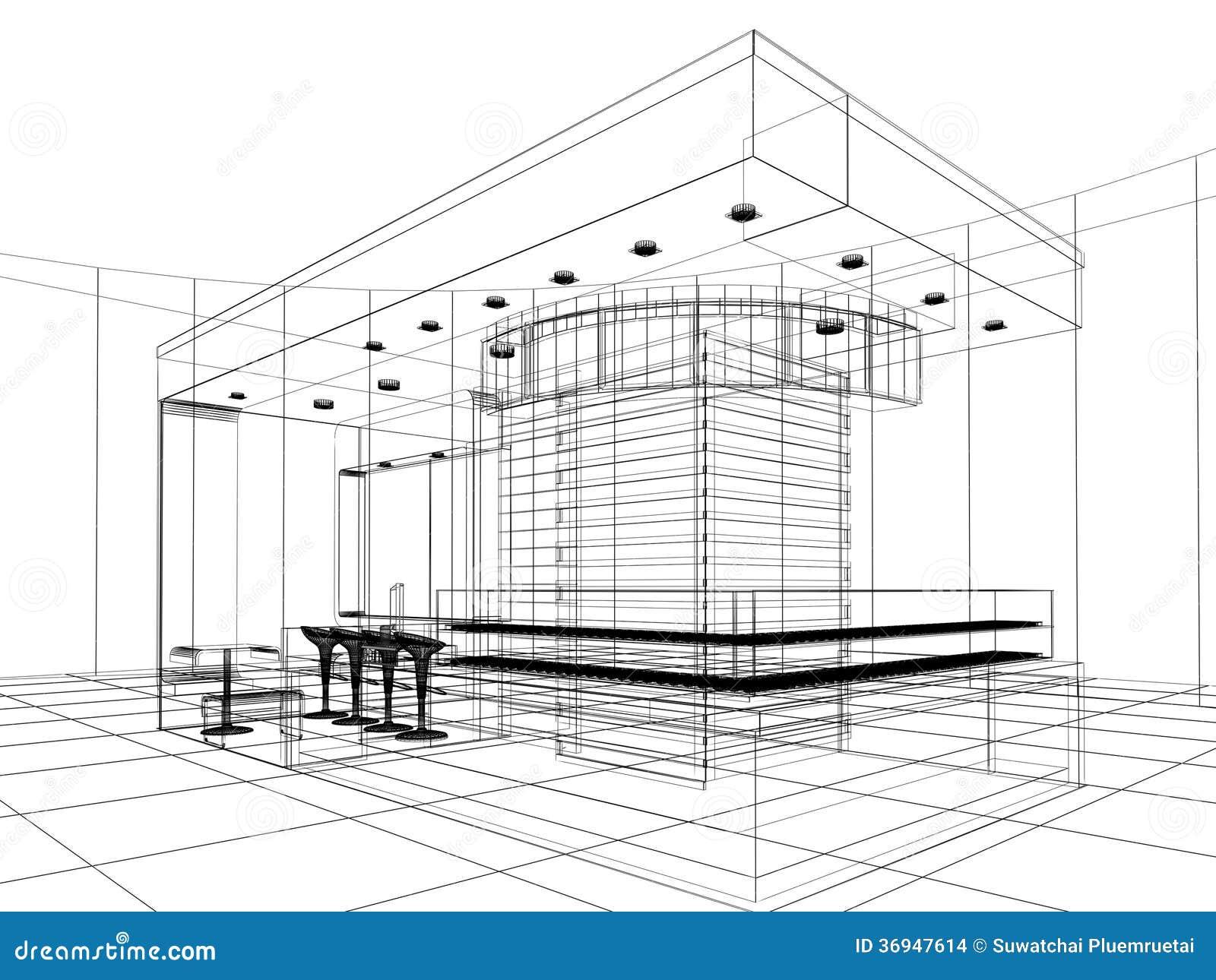 sketch design of shop stock illustration  image of drawing