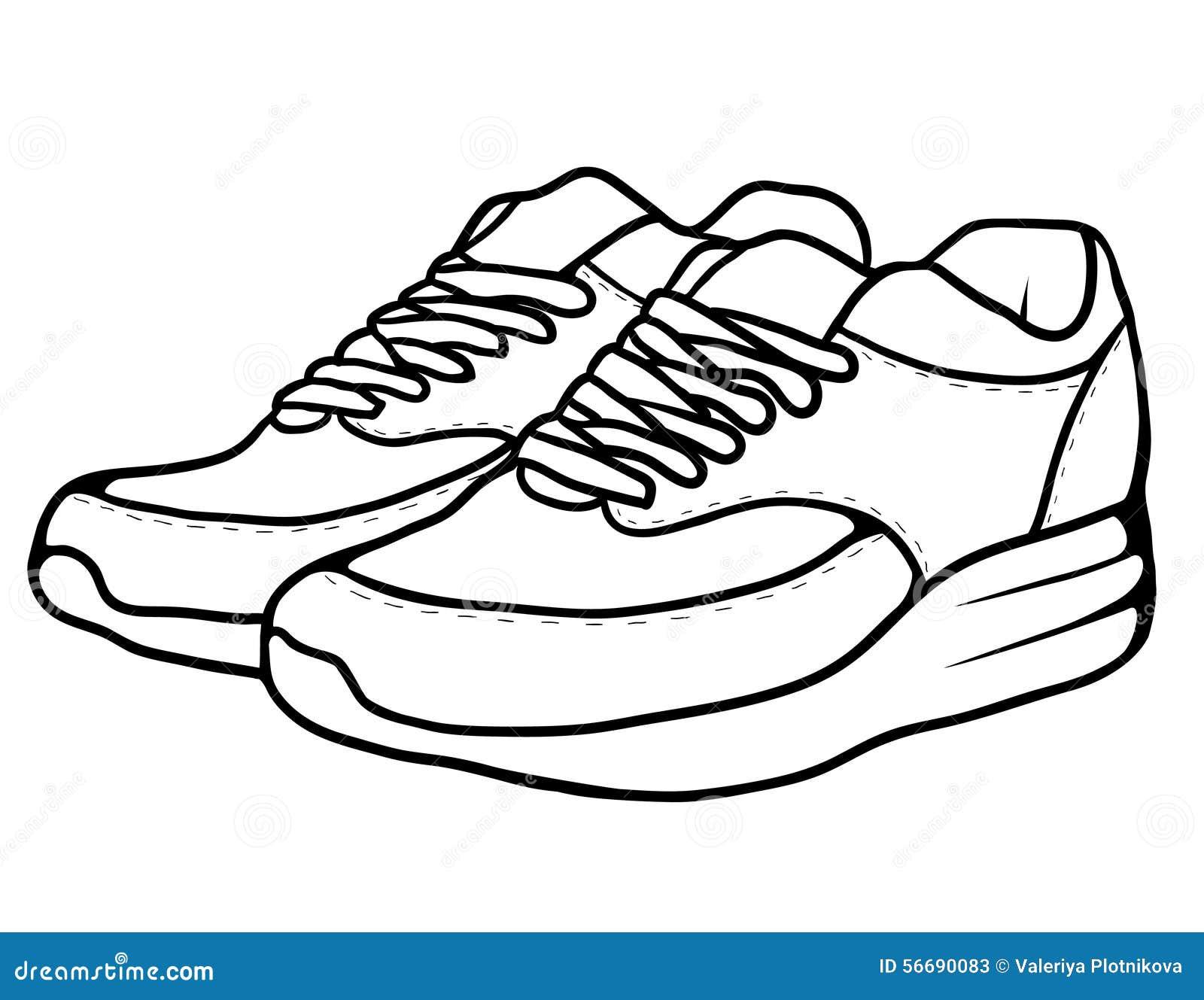 sketch doodle sneakers stock vector image 56690083