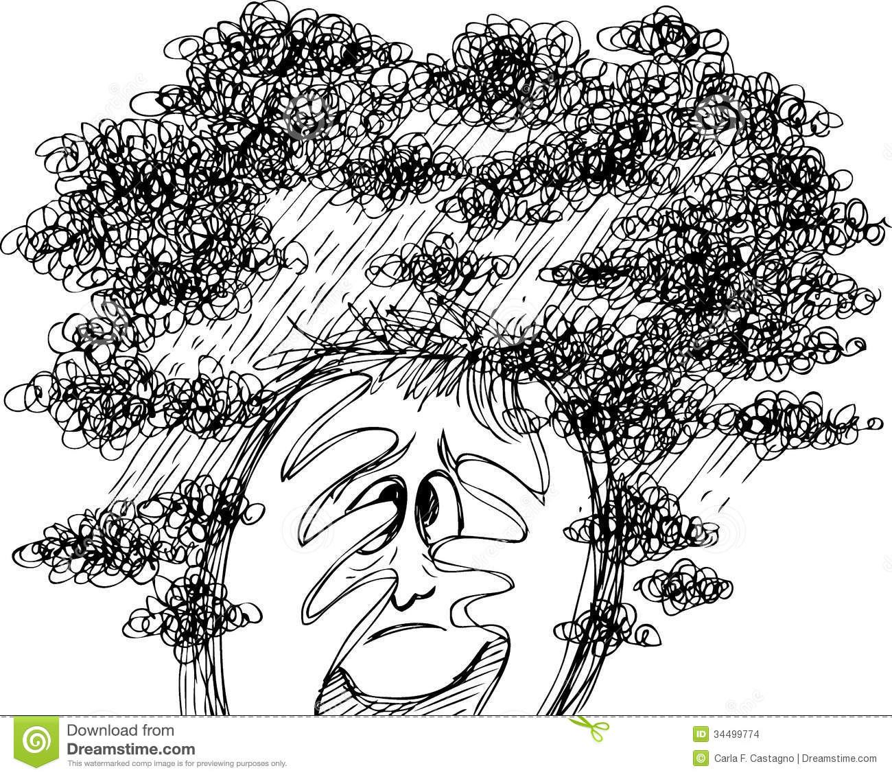 Sketch Doodles Stress And Confusion Stock Images Image