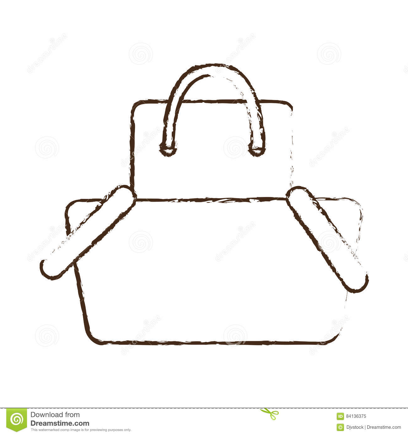 Sketch draw basket shopping bag gift online stock for Draw online share