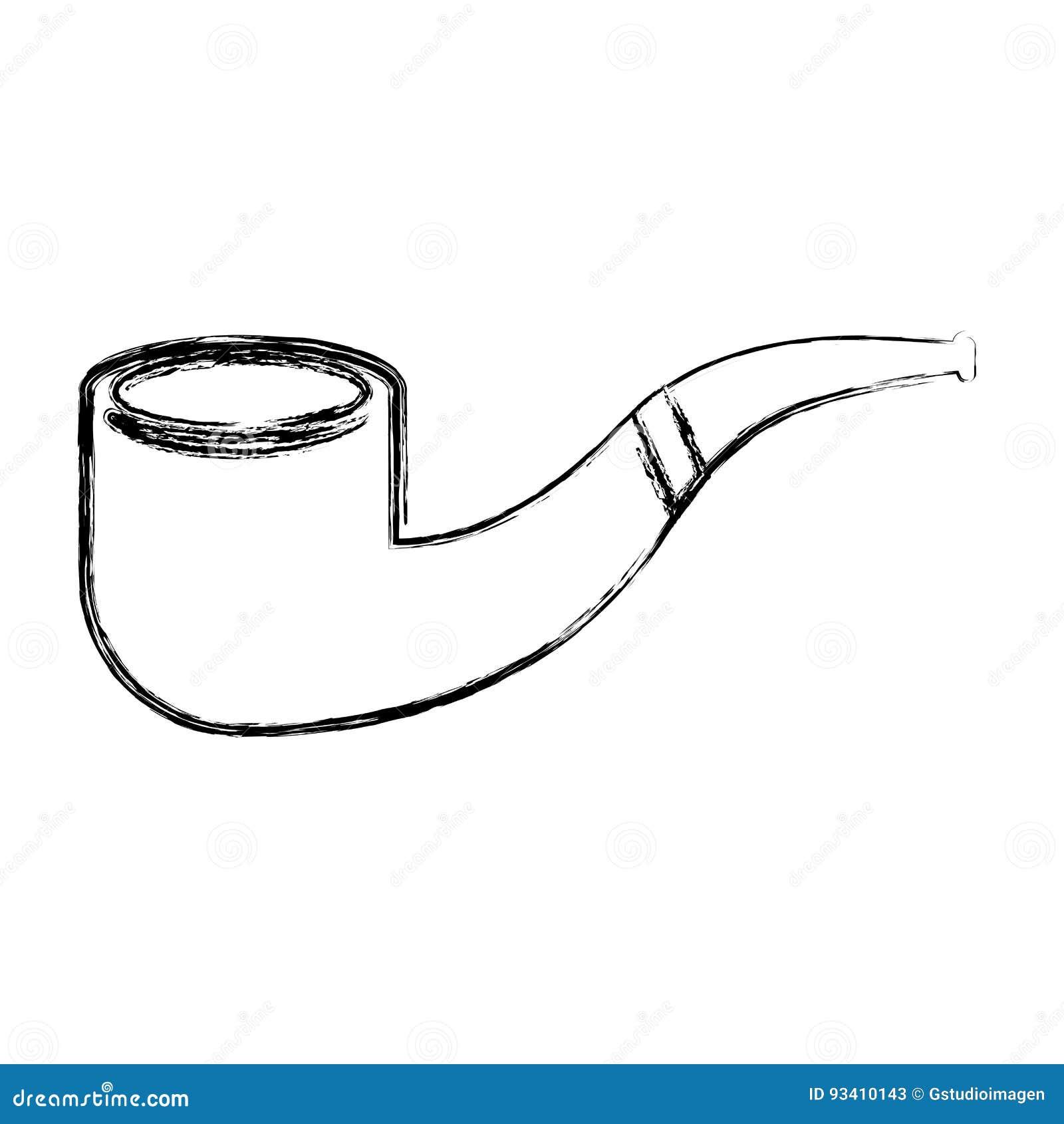 Sketch Draw Smoke Pipe Stock Vector Illustration Of Sherlock 93410143