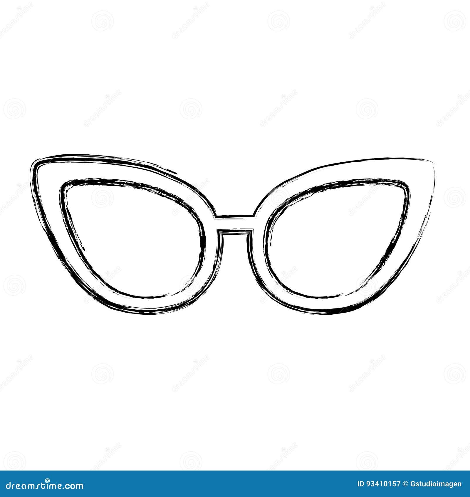 5f0391c0bdae Sketch Draw Sunglasses Cartoon Stock Vector - Illustration of ...
