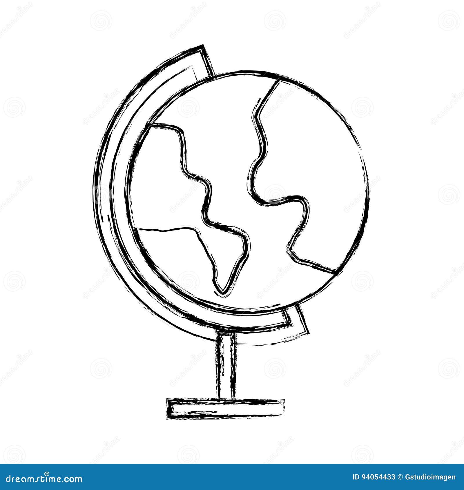 Sketch Draw World Map Cartoon Stock Vector - Illustration of ...