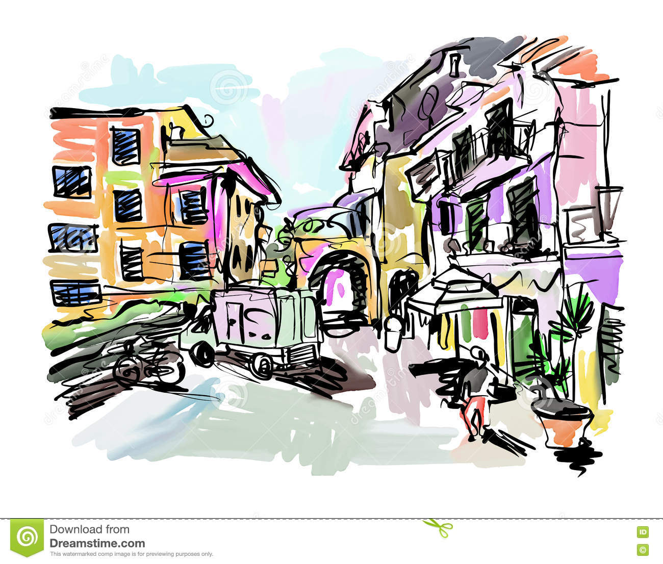 Drawing village stock illustrations 17432 drawing village stock illustrations vectors clipart dreamstime